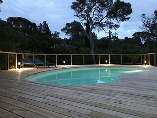 Charmant 3 pieces avec jardin et  piscine privative , calme, mer a pied.