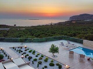Villa Liakos | Luxury villa, gorgeous sea view, close to Falassarna Beach