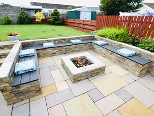 Beautiful 3 bedroom house in Cellardyke with sea views and fire pit in garden.