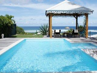Villa a Saint Francois Ref G044 avec vue sur mer 2 chambres et piscine privee