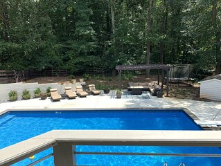 Borders Nat'l Park, Pool, Hot Tub, Fenced, Overlooks Horse Farm, Tesla Charging
