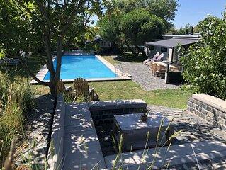 Luxe Prive duinvilla met verwarmd zwembad, 150m van strand