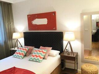Gran Via 1.2 by Forever Rentals. Amplio apartamento de 2dormitorios. Wifi gratis