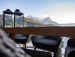 Penthouse mit 360 ° Bergblick