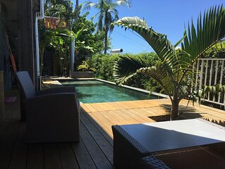 Manapany loft vue océan avec piscine chauffée.
