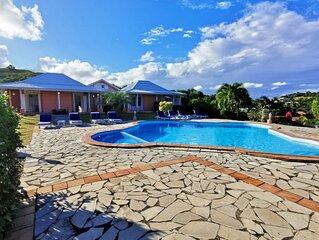 2 villas au Marin  Ref M164 cote a cote pour 12 personnes avec piscine privee