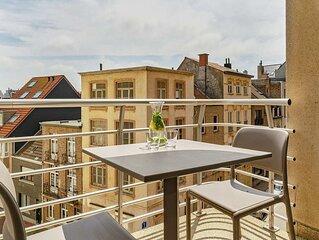 Studio pour 4 personnes avec balcon vue de ville