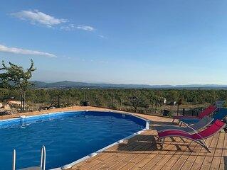 Propriété provençal au coeur de la vallée de la Durance avec une vue panoramique