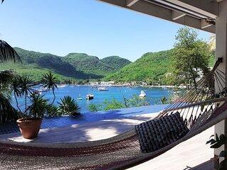 superbe villa bord de mer ponton privé vue magnifique Grande Anse