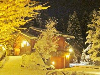 Magnifique chalet face à la chaîne du Mont Blanc, sauna, garage 3 voitures
