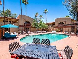 34B- Modern studio condo heated pool and dog park