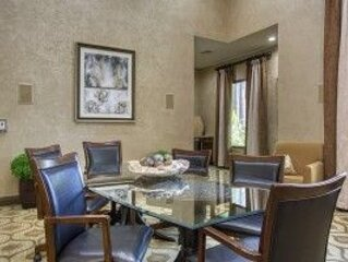 Three Bedroom Apartments for Rent in The Woodlands, TX    Clubhouse Dining & Conference Table