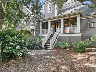 OCEANFRONT Home, Private Boardwalk in Vanderhorst Plantation!