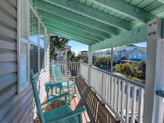 Classic Beach Cottage on Oceanside of Wrightsville Beach-Upper Unit