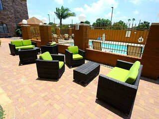 Near Area Beaches | Free Breakfast & Pool Access!