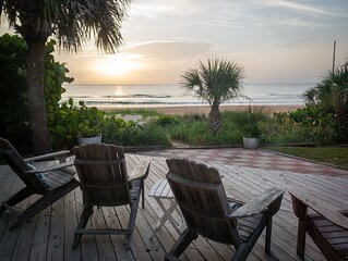 Private Oceanfront Beach House- steps from traffic-free beach. Family Friendly!
