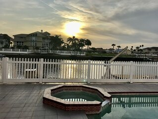 Water Front Home with Heated Pool & Hot Tub, 2 Master Suites & a Floating Dock.
