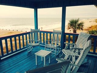 4 Bedrooms, 4 Baths; Direct Oceanfront, Covered Porch, Party Room, FP!