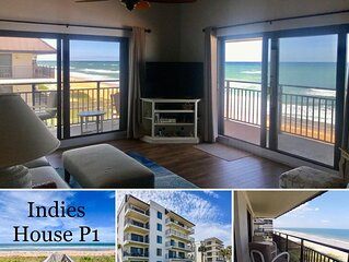 Ocean front condo with gorgeous panoramic beach views���☀️