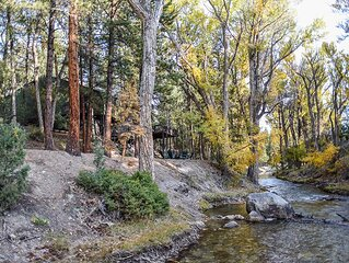 THE PONDEROSA ON CHALK CREEK  * Authentic Mtn Home * Game Room *