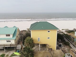Casual Beachfront Home with Screened in Deck