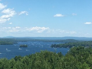 Top floor with great views of Lake Winnipesaukee, heart of the Lakes Region