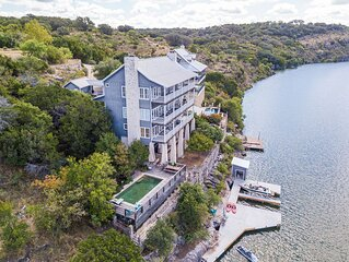 Luxury Lake Marble Falls House with Swimming Pool Hot Tub and Private Boat Slip