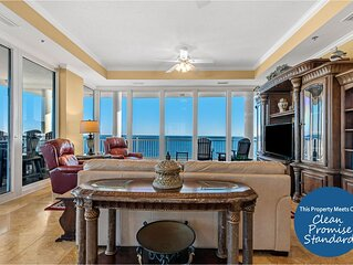 La Playa End Unit Directly on Gulf- Huge Wrap-Around Balcony, Fab Views!