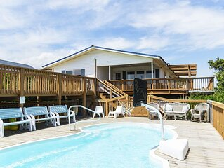 Long Boat: Oceanfront Home with Pool, Hot Tub, 5-Hole Putting Green and Game Roo