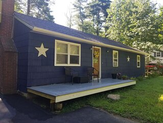 The Blue House weirs beach 3 bedroom ranch with beach rights lake winnipesaukee