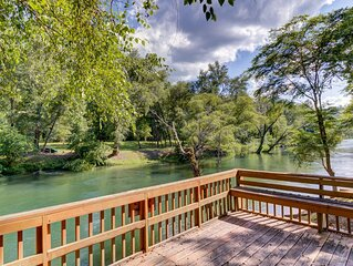 Waterfront Cabin Perfect for Fly Fishing w/ Firepit, Deck, & Private Hot Tub