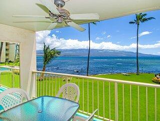 MK214 - Maui Ocean Front Vacation Rental Condo in Quiet Resort-Great View!