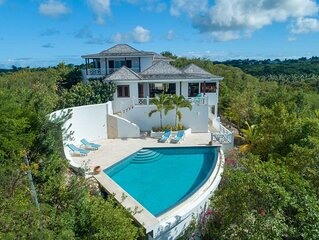 Peaceful Luxury Villa with Amazing Ocean Views, Large Pool & Private Dock