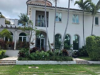 New listed! Mediterranean villa and oversized home on Key Biscayne
