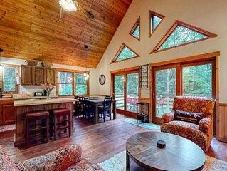 New listing! Rural getaway w/forest views, deck, firepit, pool & foosball tables