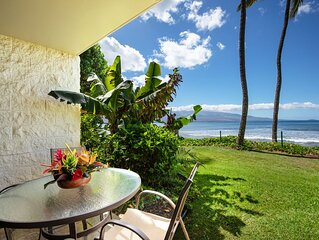 Maui Prime Beachfront Convenient Ground Floor Access To the Beach, Pool and BBQ