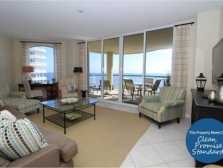 Beach Colony East 9B- Beach Front unit with large terrace & amazing views!