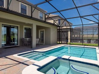 luxury 6 bed 6 bath vacation home with private pool , spa games room and also a