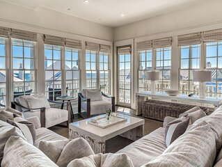 OCEAN VIEWS, Steps to BEACH, POOL, 6 Bikes, Heart of Rosemary Beach!