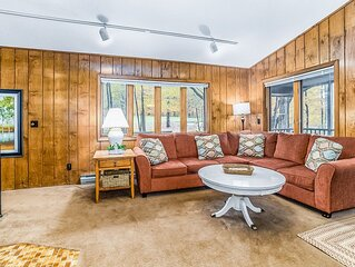 Beautiful home in the woods w/ easy access to slopes & a wood-burning fireplace!