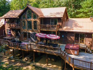 DOGS WELCOME! Lakefront Home w/Indoor Pool, Private Dock, & Home Theater!