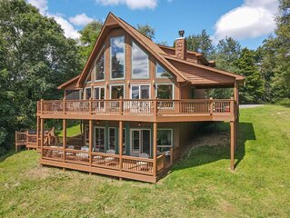 DOGS WELCOME! Lake Access Home w/Hot Tub, Fire Pit, Pool Table, & 2 Fireplaces!