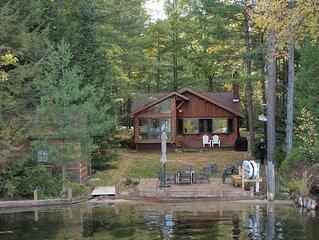 Log Cabin on Beautiful Lake in Northern Michigan