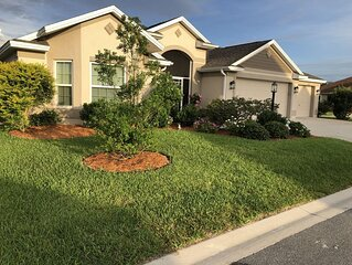 Designer 3/2 Home w/ Spacious Lanai, Fenced Yard w/ Golf Cart