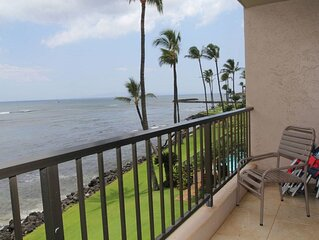 LAU307 - Lovely Lauloa Direct Oceanfront Condo in South Maui; 180° Ocean View