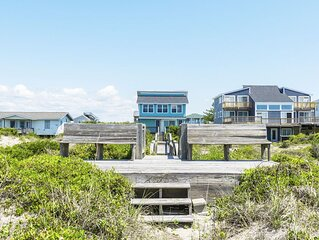 613 Caswell Beach:  Sunlit and Airy Remodeled Beachfront Home