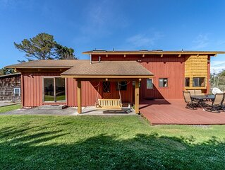 Dog-friendly cabin w/beautiful pasture and bay views and near the ocean!