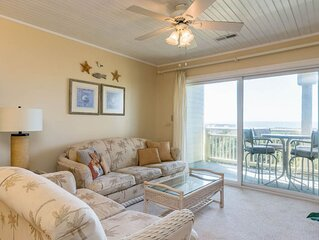 An Undisclosed Location: 2 Bed/2 Bath Oceanfront Condo with Community Pool