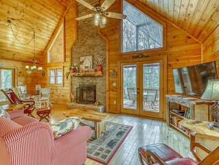 Stunning cabin w/ private hot tub, game room, & expansive deck - great view!