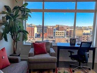 2BR City View Apt w/ Balcony in Downtown GR